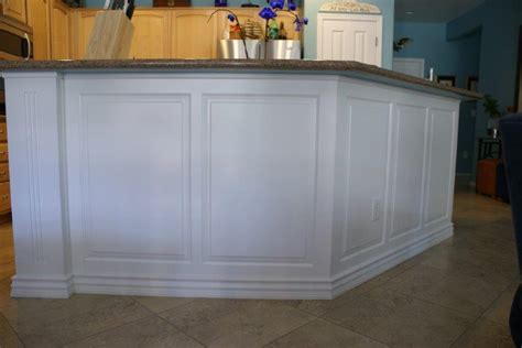 wainscoting on kitchen island wow