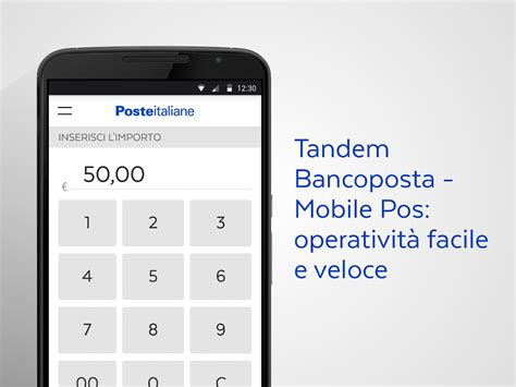 banco poste it tandem bancoposta mobile pos android apps on play