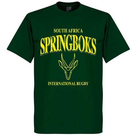 south africa springboks rugby  shirt bottle green