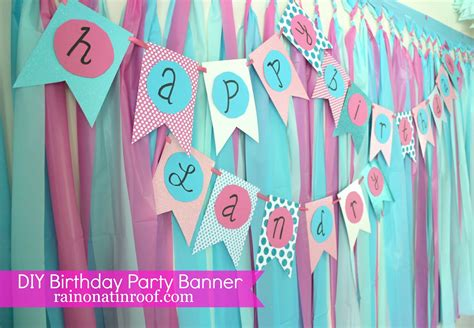 party themes diy simple diy birthday banner tutorial