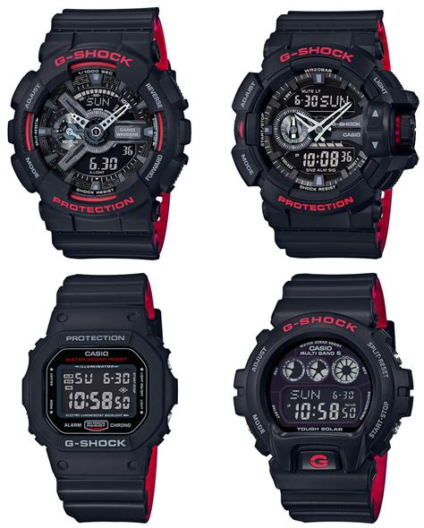 G Shock Series Black g shock black and heritage layered band series g