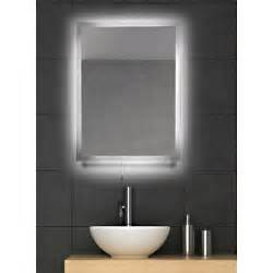 backlit mirrors for bathrooms buy hib celeste mirror 73105400 backlit mirrors bathroom