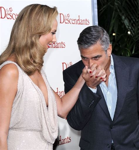 George Clooney Kisses For The Right Price by George Clooney Kisses Keibler S At The Premiere