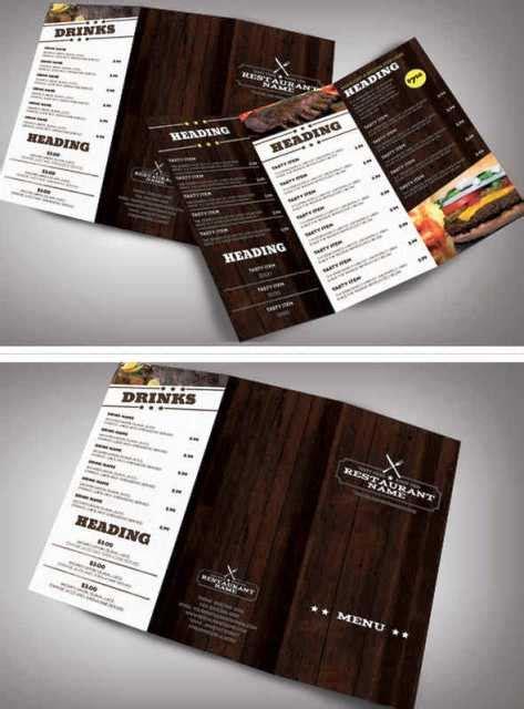 desain brosur tipografi 30 desain brosur restoran untuk promosi dan