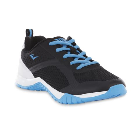 athlete edge shoes everlast 174 sport s edge black white blue athletic shoe
