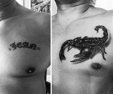 chest cover up tattoos for men 60 cover up ideas for before and after designs