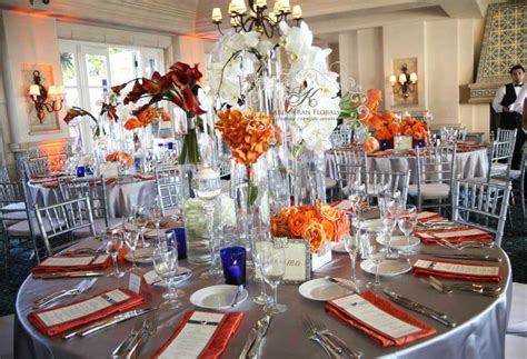 orange and silver wedding decor this is suave and chic colour code part 1
