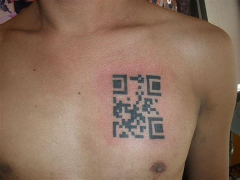 qr code tattoo 100 qr code 3 things mine and my
