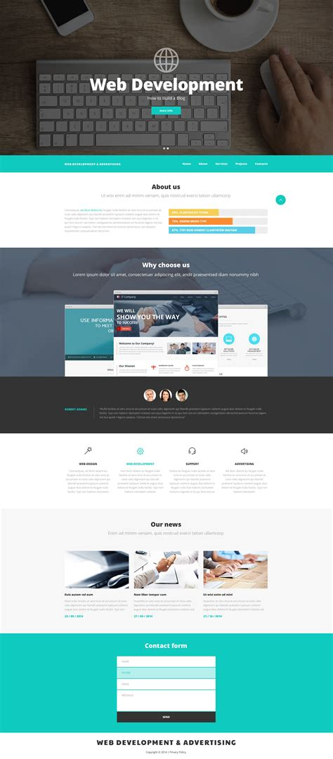 templates for web design web design and advertising website template 52537