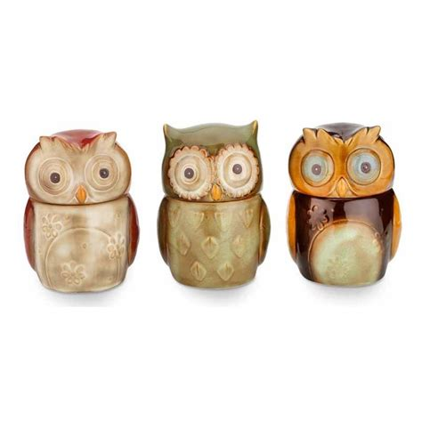 owl canisters enchanted owl canisters red wrappings