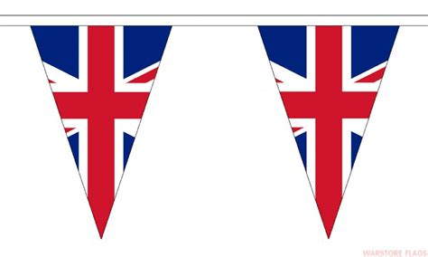 template of union bunting union triangular bunting 20 metres 54 flags