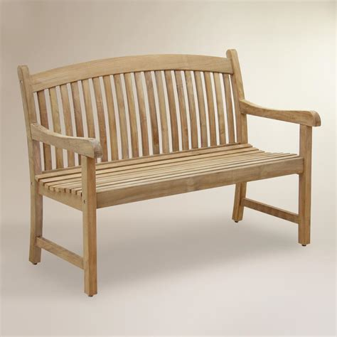 teak outdoor bench tiga teak garden bench world market
