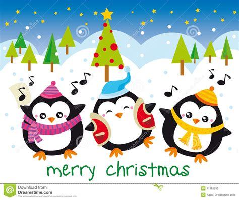 clipart natalizi pinguini di natale illustrazione vettoriale illustrazione