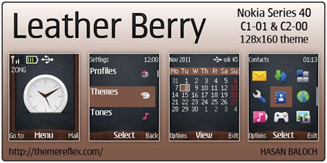 nokia c2 themes one piece leather berry theme for nokia c1 01 c2 00 themereflex