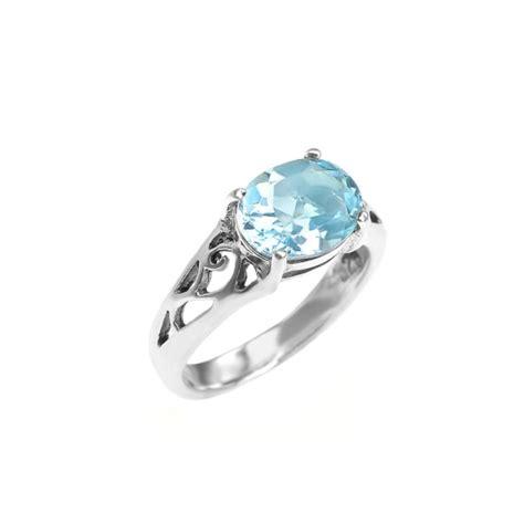 sterling silver blue topaz ring rings