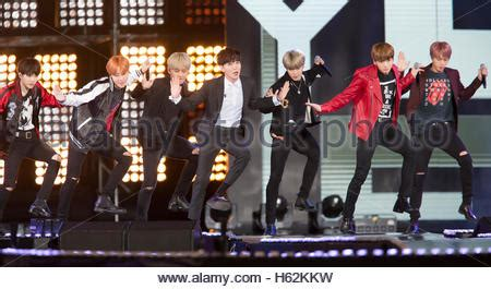 bts korean boy band bts and leeteuk super junior oct 8 2016 south korean