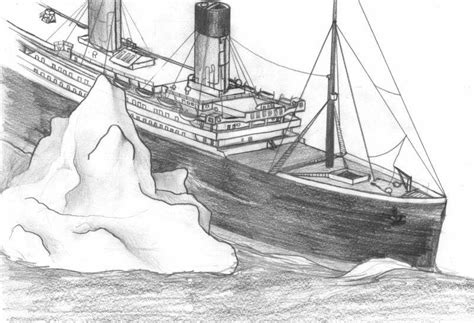 how to draw a boat sinking the titanic sinking drawing www imgkid the image
