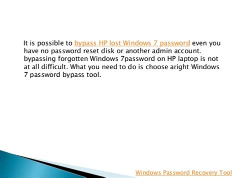 how to bypass windows 7 password with trinity rescue kit how to bypass windows 7 password on hp laptop