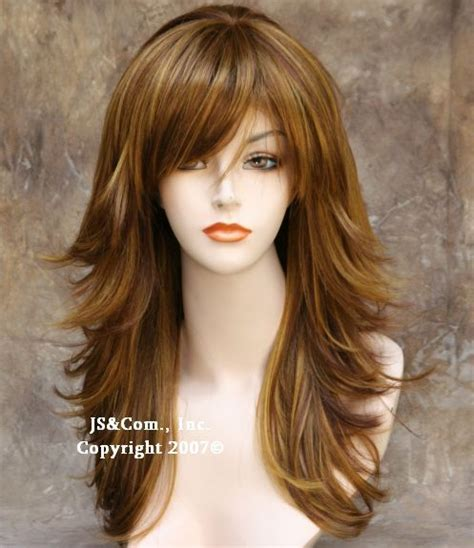 long hair with feathered bangs feathered long shag hairstyles newhairstylesformen2014 com