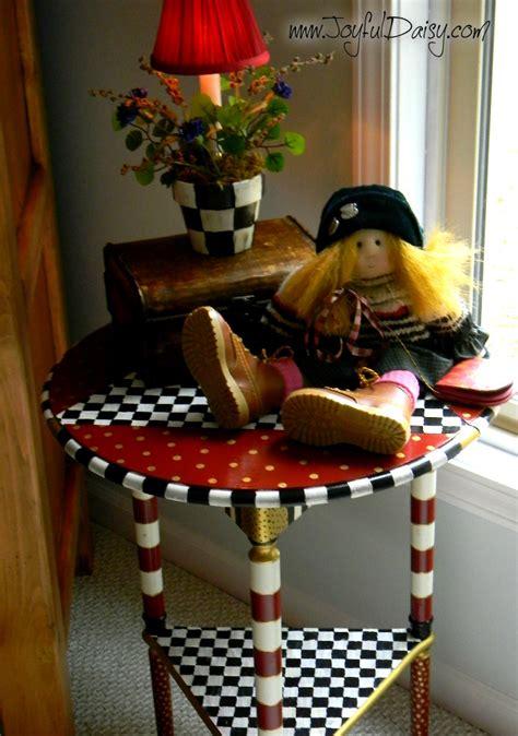 Mackenzie Childs Furniture by Mackenzie Childs Knock Table Joyful