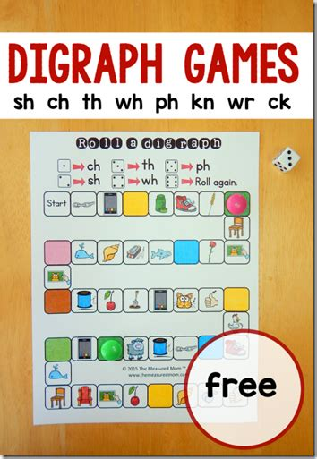 printable games english language learners consonant blends free printable game for kids learning