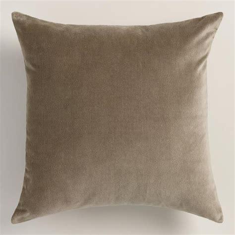 walnut taupe velvet throw pillow