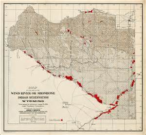 map of that part of the wind river or shoshone indian