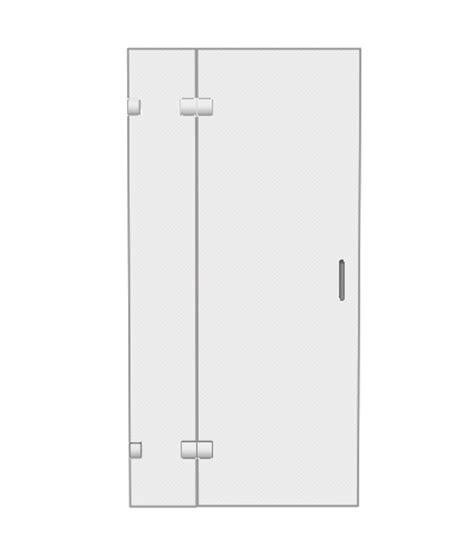 hinged glass shower doors shower enclosures single hinged shower doors
