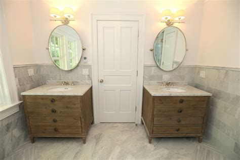 Restoration Hardware Maison Vanity by Maison Single Vanity Sink Transitional Bathroom