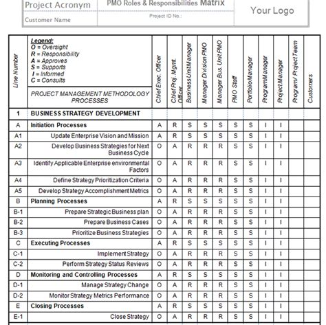 project management roles and responsibilities template pmo implementation templates project management templates
