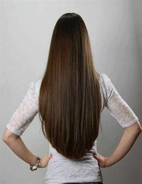 my hair is straight in the back straight long hair back view hair pinterest straight