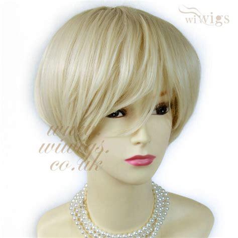 blonde bob wig wiwigs posh short wig vanilla blonde summer style hair