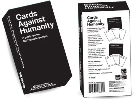 Custom Cards Against Humanity Template by Custom Two Card Boxes 187 Admagic