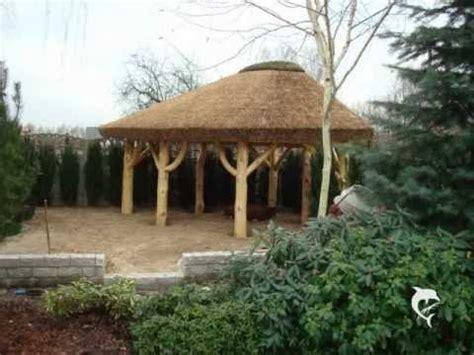gartenpavillon 3x3 altany z bali pokryte trzciną altany z trzciny pod