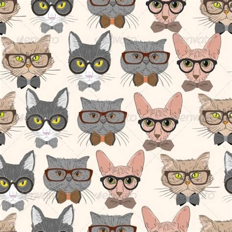 pattern cat background hipster cat pattern hipster cat patterns and cat