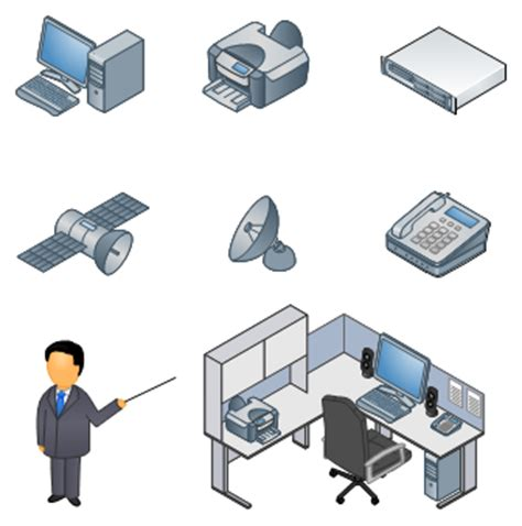 visio desk shapes visio printer symbol