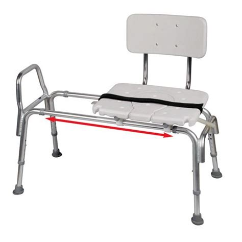 snap n save sliding transfer bench snap n save plastic sliding transfer bench with cut out seat