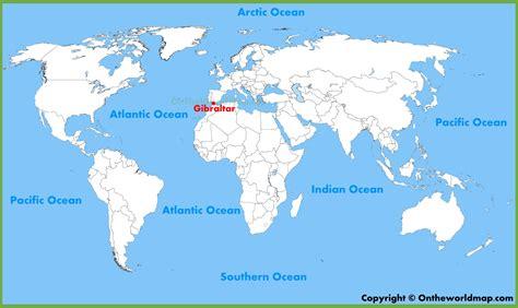 world map gibraltar gibraltar location on the world map