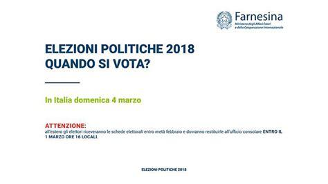orari consolato italiano lugano politiche 2018 come si vota il esplicativo