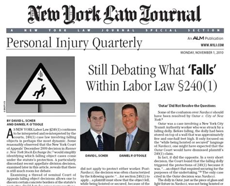 new york labor law section 240 attorneys debate what falls within labor law section 240 1