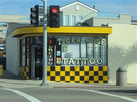 tiger rose tattoo pismo tiger pismo ca shops parlors