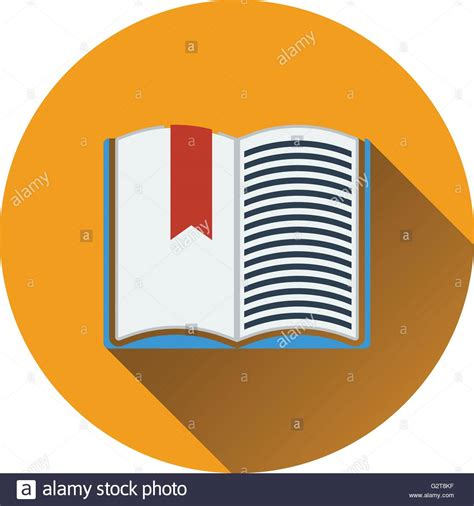 design icon book flat design icon of open book with bookmark in ui colors