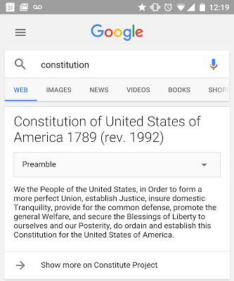 Search For In Other Countries Now Shows You The Constitution Of 13 Countries Directly In Search Results