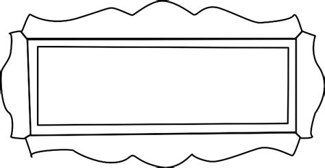 nameplate template free ornamental nameplate clip vector clip