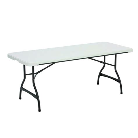 lifetime tables home depot lifetime white stacking folding table 80306 the home depot