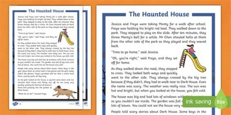 haunted house differentiated halloween spooky story
