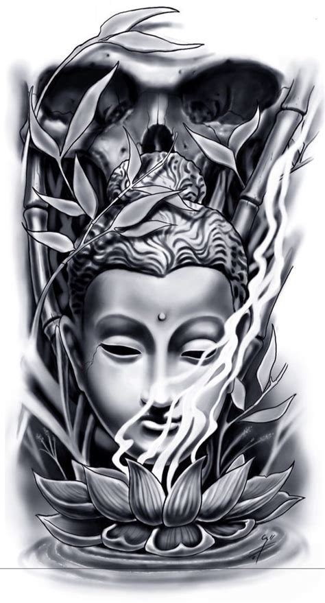 tattoo oriental paisagem tattoo of buddha design