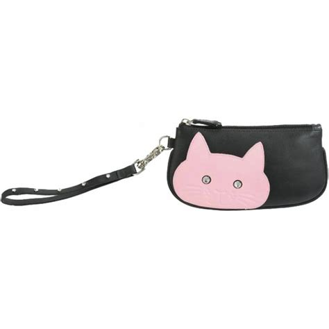 Zipper Bag Frozen Uk A4 by Ciccia Cheeky Cat Wristlet Purse Mini Leather Handbag