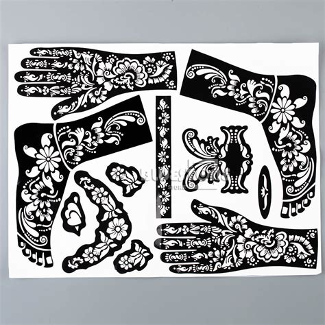 henna tattoo hand sticker henna mehndi stencils indian wedding