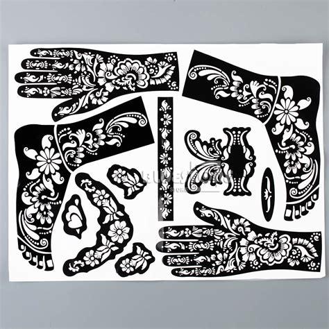 stick on henna tattoo henna mehndi stencils indian wedding